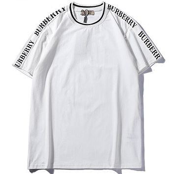 Trendsetter  Burberry Women Man  Fashion Cotton  Short Sleeve Shirt Top Tee