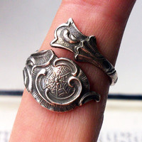 Cool Steampunk Jewelry - Antique Silver Ring - Sterling Silver Jewelry - Free Shipping - Bridesmaid Gift - Birthday Gift