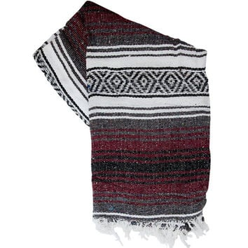 FUERTE // Southwestern Woven Blanket / Mexican Blanket or Throw / Falsa Blanket