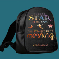 Peter Pan Quotes for Backpack / Custom Bag / School Bag / Children Bag / Custom School Bag *