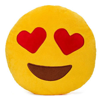 EMOJI PILLOW HEART EYES