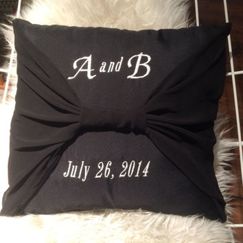 Upcycled throw pillow made with your bridesmaid dress perfect gift for the bride and groom after the wedding