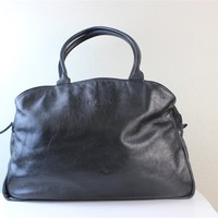 Pre-Owned Prada Black Leather and Nylon tote handbag in a large size made in Italy