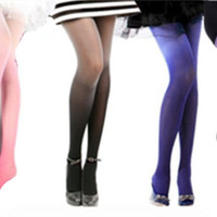Fashion 30D Ombre Watercolor Velvet Gradient Tights Pantyhose Stockings Socks