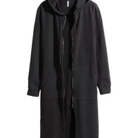 Long Hooded Jacket - from H&M