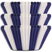 Blue Circus Stripe Baking Cups