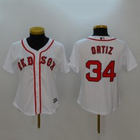 Women's MLB  Buttons Baseball Jersey  HY-17N11Y29D