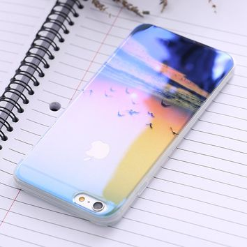 FLOVEME For iPhone 7 8 iPhone 7 8 Plus Mobile Phone Case For iPhone 6 6S iPhone 6 Plus 6S Plus Blue-Ray Clear Cover i6 6S Case