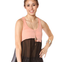 Papaya Clothing Online :: CONTRAST SLEEVELESS TOP