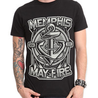 Memphis May Fire Anchor Slim-Fit T-Shirt