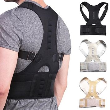 Male Female Adjustable Magnetic Posture Corrector Corset Back Brace Back Belt Lumbar Support