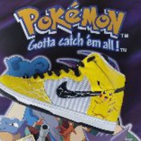 Pokemon Pikachu Yellow Lightning Custom Nike Dunks
