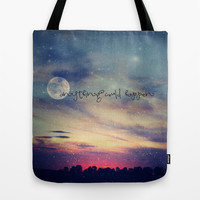 Anything could happen Tote Bag by Monika Strigel | Society6