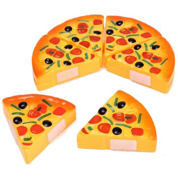 DCCKL72 Baby Kids Children Cutting Plastic Pizza Toy Food Kitchen Pretend Role Playing Toys For Early Development and Education Toys