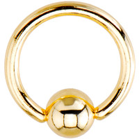 16 Gauge Gold Electro Titanium BCR Captive Ring -5/16"