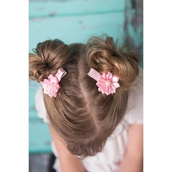 Light Pink piggy tail hair clip