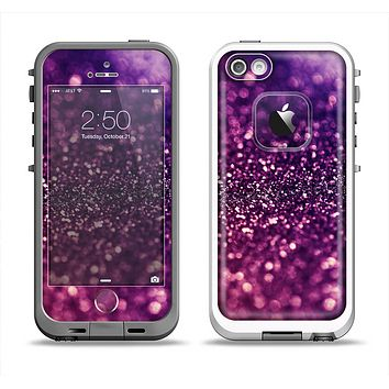The Unfocused Purple & Pink Glimmer Apple iPhone 5-5s LifeProof Fre Case Skin Set