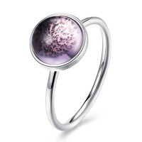 Sterling Silver Pandora Inspired Opal Pink Ring