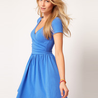 ASOS Skater Dress With Ballet Wrap