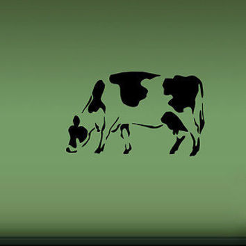 COW FARM ANIMAL WALL VINYL STICKER  DECALS ART MURAL D220