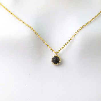Black, Labradorite, Gold, Necklace, Lovers, Best friend, Mom, Sister, Gift, Accessory, Jewelry