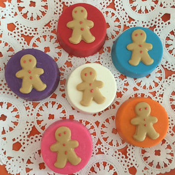 Gingerbread Men Chocolate Covered Oreos(12 qty) - Birthday Party/Party Favors/Gingerbread Men/Nursery Class Party