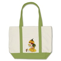 Buttercup Flower Child Funny Cute Little Girl Large Tote Bag
