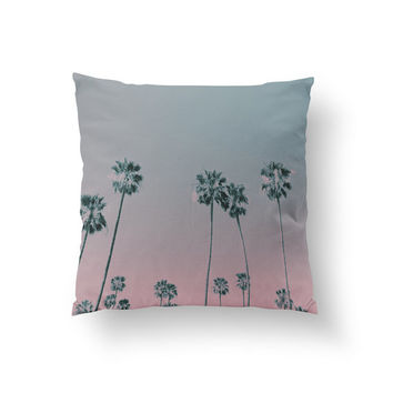 Palm Trees Pillow, Palm Illustration Pillow, Home Decor, Cushion Cover, Throw Pillow, Bedroom Decor,Bed Pillow, Decorative Pillow, Ombre Art