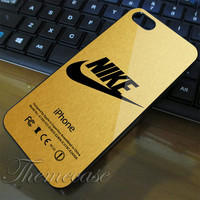 Nike Just Doi It Logo Gold case for iphone 4 case,iphone 4s case,iphone 5 case,iphone 5s case,samsung galaxy s3 case,samsung galaxy s4 case