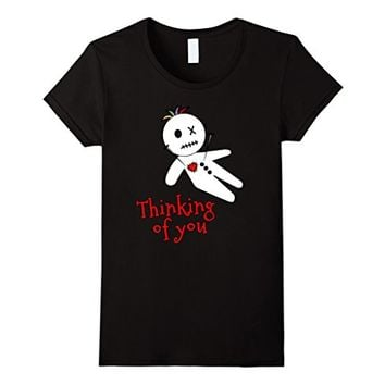 Cute Anti Valentine Tshirt Voodoo Doll