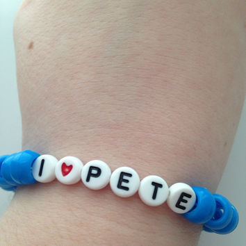 I Love Pete Wentz Text Fall Out Boy Bracelet