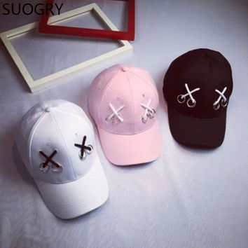 [SUOGRY] Baseball Caps Customized Dad Hat Fitted Lron Ring snapback caps casquette Bone Male hats for men Women