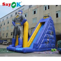 2017 Giant inflatable batman slip and slide inflatable stair slide inflatable dry slide for adult