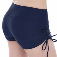 Women Yoga Shorts Quick Dry Breathable Sports Running Fitness Drawstring Beach Shorts Swimming yoga pantalon corto