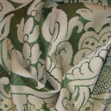 Clarence House Green Vintage Victorian Designer Upholstery Fabric 12 Yards