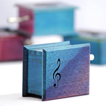 Turquoise dark pink purple gift wooden music box  Beethoven: Für Elise