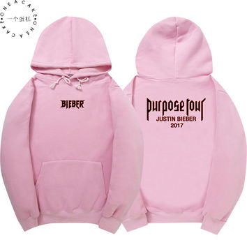 Justin Bieber Hoodie Men Security  Fleece Sweatshirt 2017 Purpose Tour Hoodies Fear Of God Streetwear Tracksuits ONE A CAKE