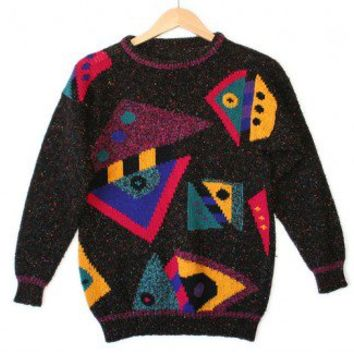 Shop Now! Ugly Sweaters: Vintage 80s Tacky Ugly Cosby Sweater for Girls Women's Size Small/Medium (S/M) $22 - The Ugly Sweater Shop