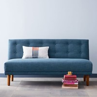 Rounded Retro Armless Sofa