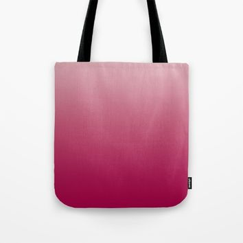 Bright Rose Ombre Tote Bag by Lindsay