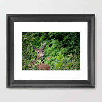 Good Things are Wild & Free Framed Art Print by RDelean