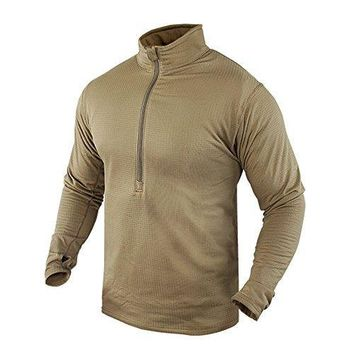 Base II Zip Pullover Color- Tan (Small)