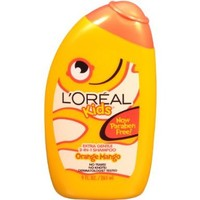 L'Oreal Kids Orange Mango Smoothie 2-in-1 Shampoo for Extra Shine, 9.0 Fluid Ounce