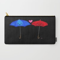 The Blue Umbrella Carry-All Pouch by Sierra Christy Art