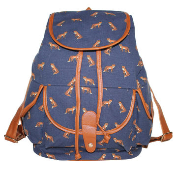 Back To School On Sale Comfort Stylish College Casual Hot Deal Canvas Owl Pattern Ladies Backpack [8070740487]