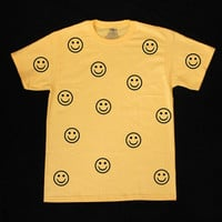 Smiley Faces Graphic Print Unisex Tee Shirt