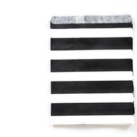 Striped Paper Bag - Black x 24