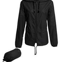 Beyove Womens Rainwear Active Outdoor Hooded Cycling Packable and Lightweight Jacket