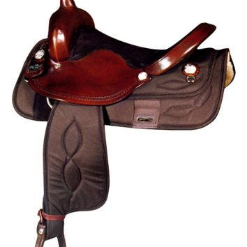 "Big Horn 15"" or 16"" Synthetic Brown Barrel Saddle"
