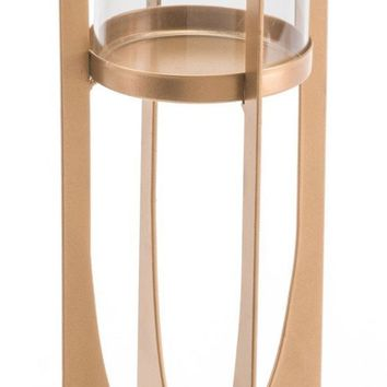 Equis Gold Candle Holder Md Gold